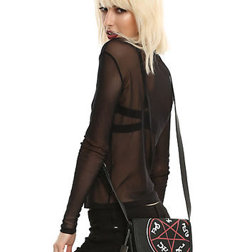 Supernatural Devil's Trap Symbol Saddle Bag