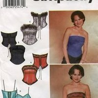 Simplicity Pattern 7009 Lace Up Bustier w/ Trim Variations