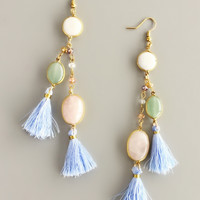 Royal Luiza Earrings - Handcrafted Quartz