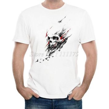 New Arrivals 2017 Men's Summer Horried Skull Fresh Printed T Shirt Cool Tops High Quality Casual Tee