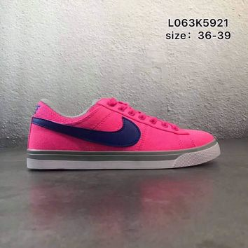 NIKE COURT ROYALE canvas low to help wild school board shoes F-PSXY Pink + blue hook