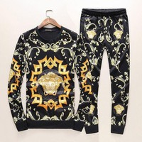 DCCKNY1Q Boys & Men Versace Top Sweater Pullover Pants Trousers Set Two-Piece Sportswear