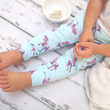 Baby leggings , unicorn leggings , girls leggings , baby clothes , girls clothing , baby girl clothes ,  baby trousers , newborn baby