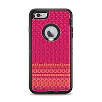 The Tall Pink & Orange Floral Vector Pattern Apple iPhone 6 Plus Otterbox Defender Case Skin Set