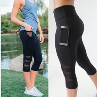 ACTIVEWEAR MESH PANEL LEGGINGS - Capri