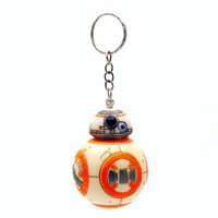 1 pc 2.2 inch New Star Wars The Force Awakens Dirty-Style BB8 BB-8 Droid Robot Keychain Action Figure Stormtrooper Toys