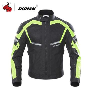 Trendy DUHAN Motorcycle Jacket Summer Moto Jacket Men Motobike Protective Gear Breathable Mesh Reflective Motorcycle Clothing AT_94_13