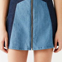 Lykke Wullf Monica Two-Tone Denim Skirt | Urban Outfitters