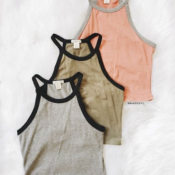 Izabella Tank (Heather Gray)