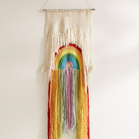 Rainbow Weave Wall Hanging | Urban Outfitters