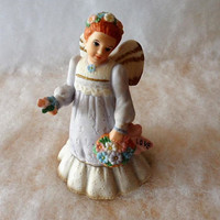 "Vintage 1995 SCHMID Angelic Melodies Music Box Angel ""LOVE""/Musical Angel ""The Wedding March"" Musical Angel/Hand Painted Musical Angel"