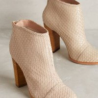 Guilhermina Woven Leather Booties Neutral