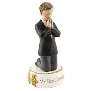 "Boy First Communion Figure Statue 5.5"" ""My First Communion"""