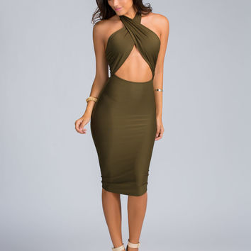 Sharp Twist Bodycon Dress