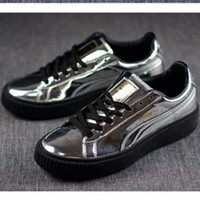 PUMA Women Casual Running Sport Shoes Sneakers Silver