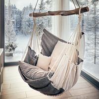 Hammock chair for home and garden, for interior and relax.