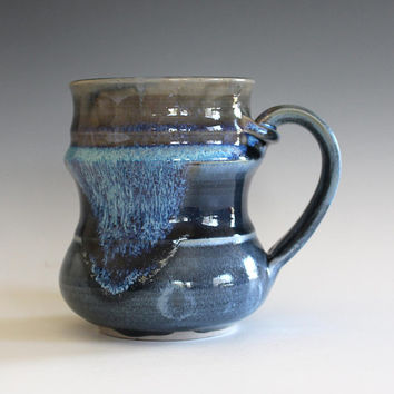 Unique coffee mug, 12 oz, handmade cup, handthrown mug, stoneware mug, wheel thrown pottery mug, ceramics and pottery