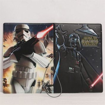 CREYCI7 Star Wars The Force Awaken 3D Design Fashion Passport holder Cover ID package Travel Accessories Ticket Protective Case Gift