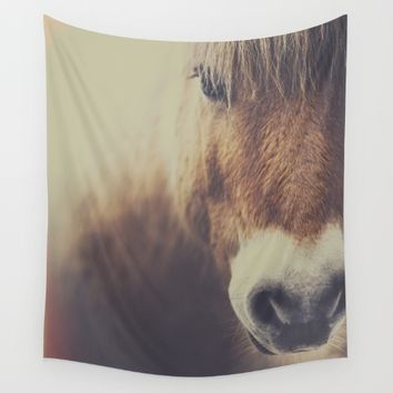 The curious girl Wall Tapestry by HappyMelvin | Society6