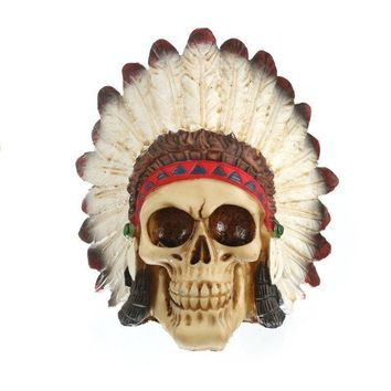 Skull Skulls Halloween Fall Resin Craft Statues For Decoration Indian Style  Creative  Figurines Sculpture Home Decoration Accessories Calavera