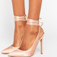 ASOS PIPE DOWN Pointed High Heels at asos.com