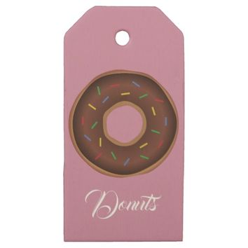 Donuts: Gift Wrapping Paper Supplies Wooden Gift Tags