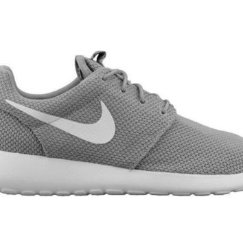 DCCKHI2 Nike Roshe One Mens 511881-023 Wolf Grey White Mesh Running Shoes Size 9