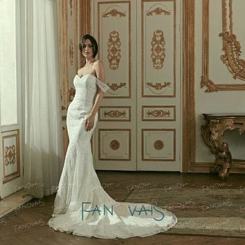 Elegant Wedding Dresses Off The Shoulder Lace Wedding Gowns