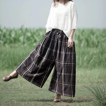 Loose wide leg pants women Leisure trousers Women large size pants