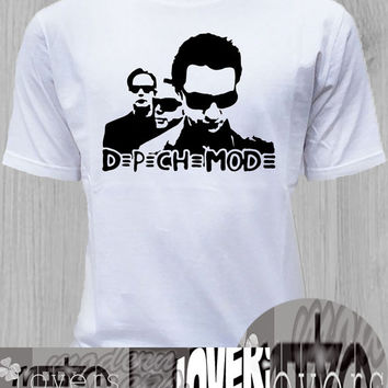 depeche mode TShirt Tee Shirts Black and White For Men and Women Unisex Size
