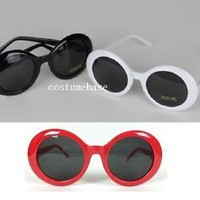 KURT COBAIN WHITE BLACK RED Alien Shades SUNGLASSES Nirvana Thick Frame GLASSES