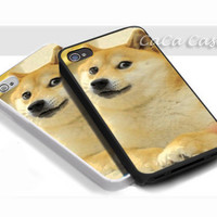 iDoge Shibe Doge - Print on hardplastic for iPhone 4/4s and 5 case, Samsung Galaxy S3/S4 case.