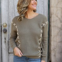 Double Dose Sweater - Taupe