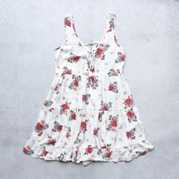 SH gauzy floral criss-cross dress