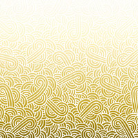 Ombre yellow and white swirls doodles Fabric Fabric