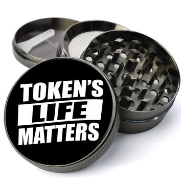 Token's Life Matters Extra Large 4 Chamber Spice & Herb Grinder With Microfine Screen