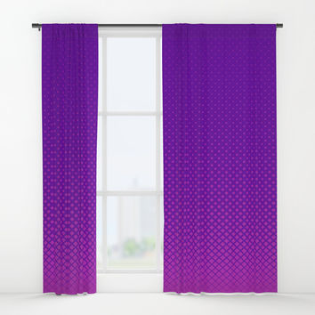 Purple halftone Window Curtains by Knm Designs