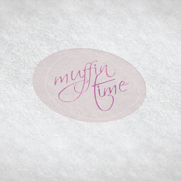 Muffin Time / Pink Pre-made Logo Design / Etsy Set, Social Media Profile Set / One Of A Kind Logo Design / Unique Full Brand Set... and More