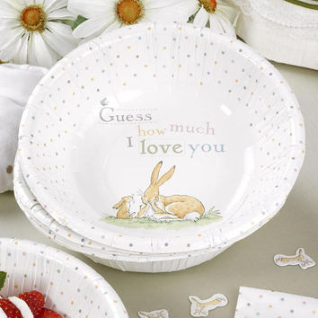 Guess How Much I Love you - Plates Paper bowls Christenings-Birthday-baby shower-Birthday