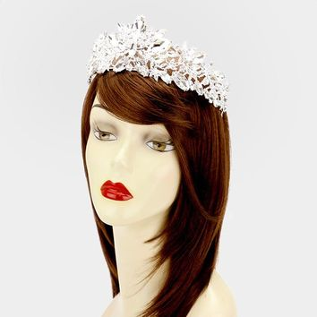 Rhinestone wedding crown and pageant tiara #w339989 - CLOSEOUT