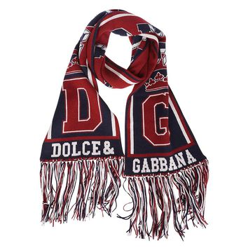 Multicolor Football Scarf by Dolce & Gabbana