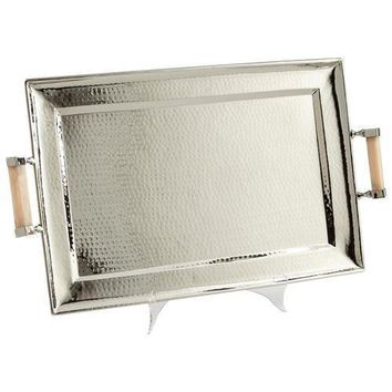Cyan Design Butlers Palace Tray in Stainless Steel