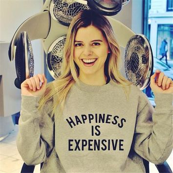 Women's Fashion Winter Alphabet Print Fleece Hoodies [52173307930]