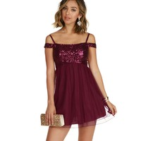 Kassie-Burgundy Homecoming Dress