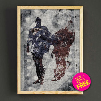 Superman, Print, Superman poster, Superhero poster, Art, Heroes Illustrations, Wall art, Artwork, Comic poster, Gift, Home Decor- 389s2g
