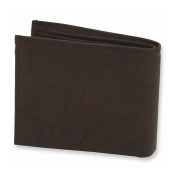 Men's Brown/Tan/Black Leather Bi-fold Wallet - Engravable Personalized Gift Item