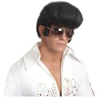 Pompadour Wig Adult 70s Elvis Costume Halloween Fancy Dress
