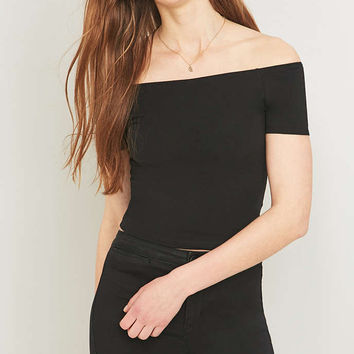 Light Before Dark Black Bardot Top - Urban Outfitters