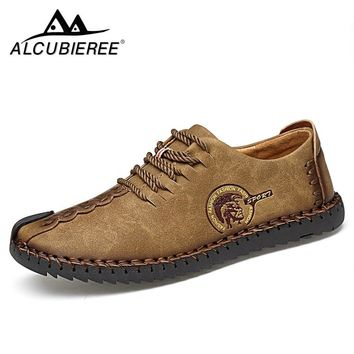 Summer Casual Lace Up Shoes Men Leather Walking Boat Shoe Loafers Moccasins Flats Shoes Men Luxury Brand Hot Sale Fashion 2018