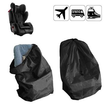 Black Portable Car Seat Travel Bag For Baby Children Car Safety Seats Dust Protection Cover Bag Travel Strollers Accessories Bag